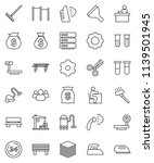 thin line vector icon set  ... | Shutterstock .eps vector #1139501945