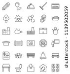 thin line vector icon set  ... | Shutterstock .eps vector #1139502059