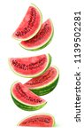 isolated watermelon slices.... | Shutterstock . vector #1139502281