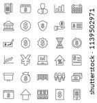 thin line vector icon set  ... | Shutterstock .eps vector #1139502971
