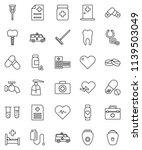 thin line vector icon set  ... | Shutterstock .eps vector #1139503049