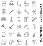 thin line vector icon set  ... | Shutterstock .eps vector #1139503055