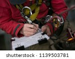 close up picture of rope access ... | Shutterstock . vector #1139503781