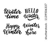hand drawn lettering winter... | Shutterstock .eps vector #1139506337