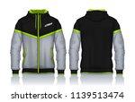 hoodie shirts template.jacket... | Shutterstock .eps vector #1139513474