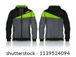 hoodie shirts template.jacket... | Shutterstock .eps vector #1139524094