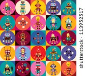 robots pattern | Shutterstock . vector #113952517