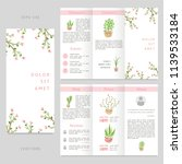 tri fold floral brochure with... | Shutterstock .eps vector #1139533184