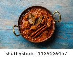 chicken tikka masala spicy... | Shutterstock . vector #1139536457