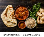 chicken tikka masala spicy... | Shutterstock . vector #1139536541