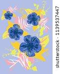 hand drawn tropical vector... | Shutterstock .eps vector #1139537447