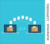 file transfer   data transfer... | Shutterstock .eps vector #1139543501
