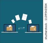 file transfer   data transfer... | Shutterstock .eps vector #1139543504