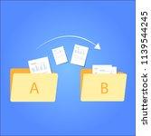file transfer   data transfer...   Shutterstock .eps vector #1139544245