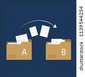 file transfer   data transfer... | Shutterstock .eps vector #1139544254