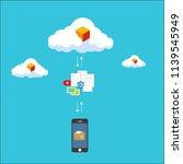 file transfer   data transfer...   Shutterstock .eps vector #1139545949