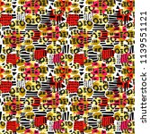 urban seamless funky collage... | Shutterstock .eps vector #1139551121