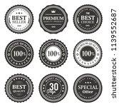 set nine vector seals label | Shutterstock .eps vector #1139552687