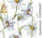 white daisy flower. floral... | Shutterstock . vector #1139556407