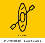 kayak icon signs | Shutterstock .eps vector #1139561081