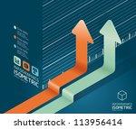 infographic arrow diagram chart.... | Shutterstock .eps vector #113956414