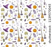 pattern for halloween in... | Shutterstock .eps vector #1139570045