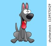 cartoon dog character vector | Shutterstock .eps vector #1139570429