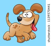 cartoon dog character vector | Shutterstock .eps vector #1139570441