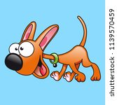 cartoon dog character vector | Shutterstock .eps vector #1139570459