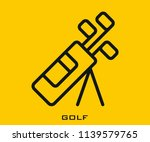 golf icon signs | Shutterstock .eps vector #1139579765
