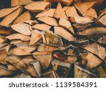 preparation of firewood for the ... | Shutterstock . vector #1139584391
