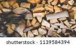 preparation of firewood for the ... | Shutterstock . vector #1139584394