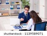 businessman discussing health...   Shutterstock . vector #1139589071