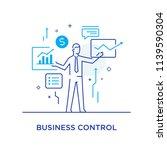 businessman controls the... | Shutterstock .eps vector #1139590304