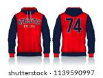 hoodie shirts template.jacket... | Shutterstock .eps vector #1139590997