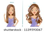 curling hair of woman.before... | Shutterstock .eps vector #1139593067