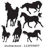 Stock vector horse vector silhouette 113959897