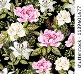 a bright watercolor pattern...   Shutterstock . vector #1139601677