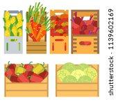fresh natural vegetables | Shutterstock .eps vector #1139602169
