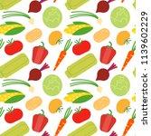 fresh natural vegetables | Shutterstock .eps vector #1139602229
