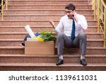 young businessman on the street ... | Shutterstock . vector #1139611031