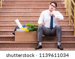 young businessman on the street ... | Shutterstock . vector #1139611034