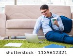 businessman taking work home... | Shutterstock . vector #1139612321