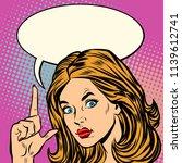serious woman index finger... | Shutterstock .eps vector #1139612741