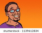 african man smiling. hipster... | Shutterstock .eps vector #1139612834