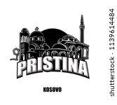 prstina  kosovo  black and... | Shutterstock .eps vector #1139614484