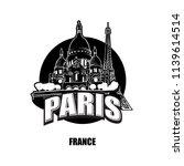 paris  france  black and white... | Shutterstock .eps vector #1139614514