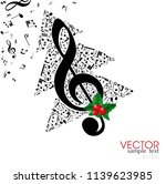 christmas card. musical... | Shutterstock .eps vector #1139623985