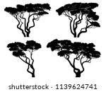 set of vector silhouettes of... | Shutterstock .eps vector #1139624741