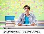 student with many conflicting... | Shutterstock . vector #1139629961
